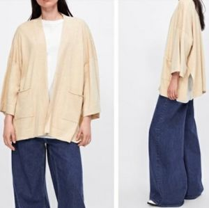Zara Knit Slouchy Kimono Cardigan